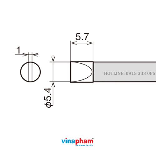 Mỏ hàn, tips hàn cho máy hàn thiếc RX-80HRT-5.4D GOOT